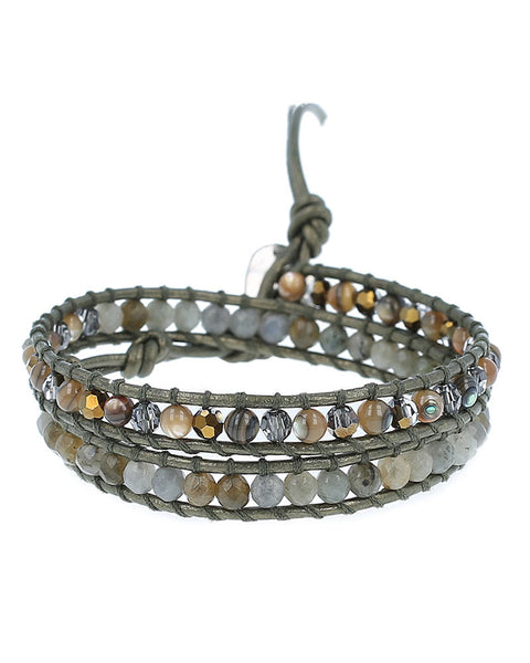 Chan Luu Abalon Mix Double Wrap Bracelet