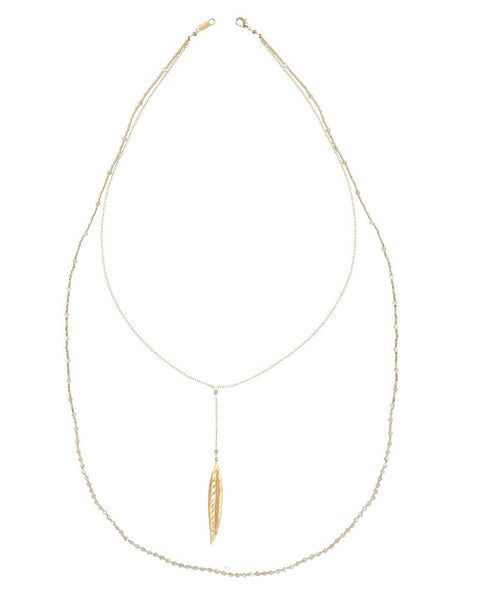 Chan Luu | Natural Mother of Pearl Double Strand Necklace