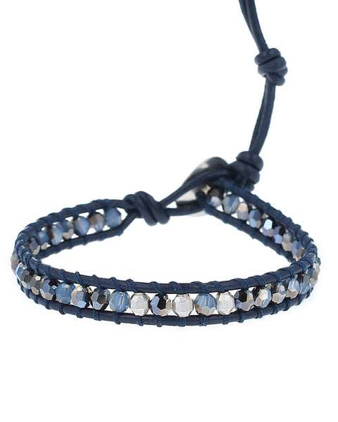 sky blue mix single wrap bracelet chan luu