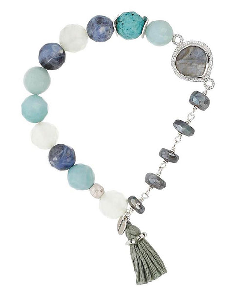 Chan Luu | Amazonite Mix Stretch Bracelet