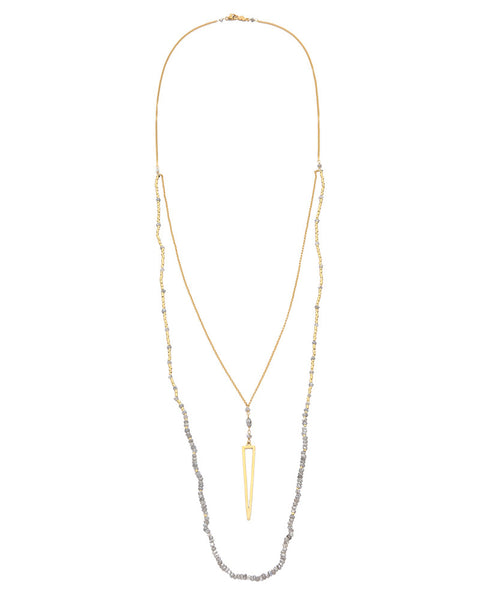 Chan Luu Beaded Double Layer Arrow Necklace