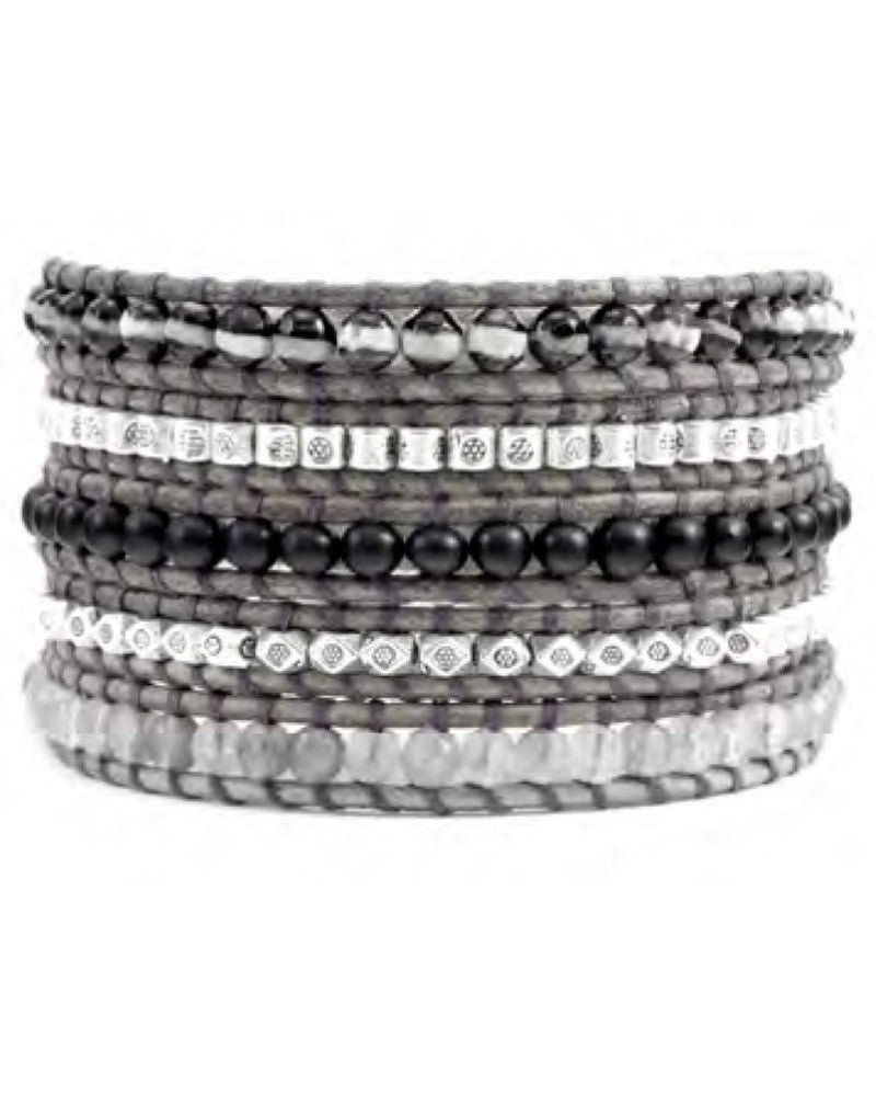 Chan Luu Black and Grey Bracelet Wrap