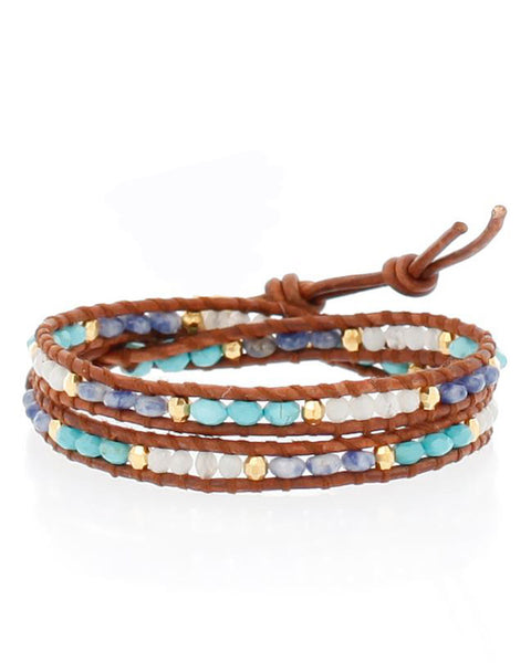 Chan Luu | Blue Mix Natural Wrap Bracelet