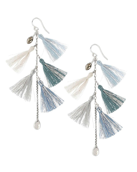 blue tassel earrings womens designer chan luu jewelry