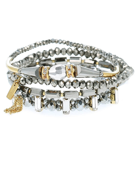chan luu mixed metal beaded bracelet set