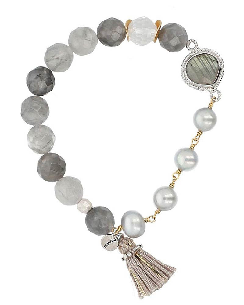c0fb80a268c9 Chan Luu | Grey Pearl Mix Stretch Bracelet – Online Jewelry Boutique