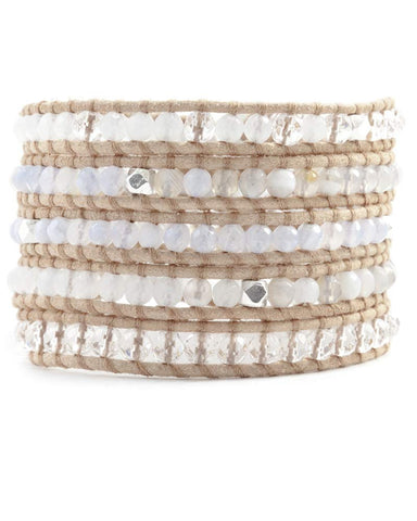 Chan Luu Wrap Bracelet on Beige Leather