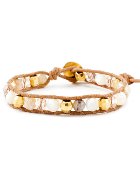 Chan Luu Mother of Pearl Wrap Bracelet
