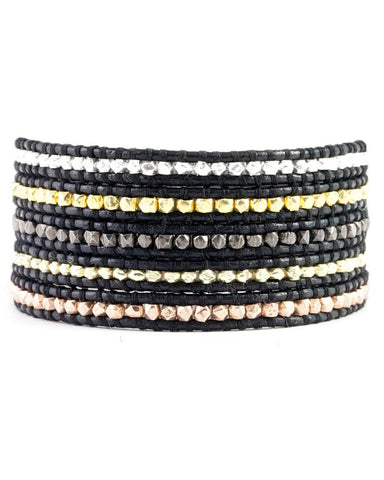 Black Multi Wrap Leather Bracelet Chan Luu