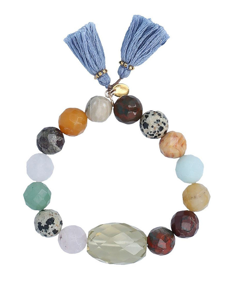 chan luu multi colored stone bracelet stretch