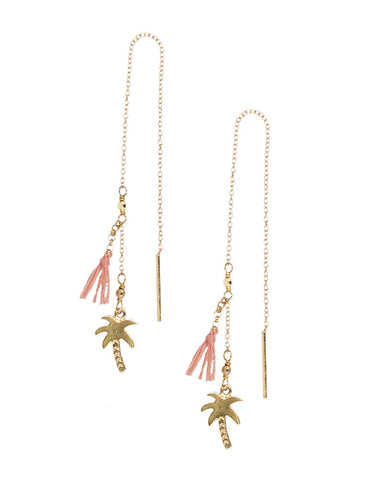 beautiful nice earrings chan luu designer gold handcrafted peach color cute