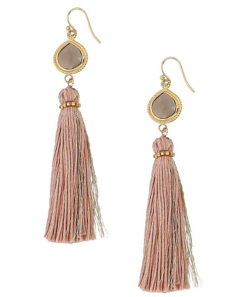 Chan Luu | Pink Mix Tassel Earrings