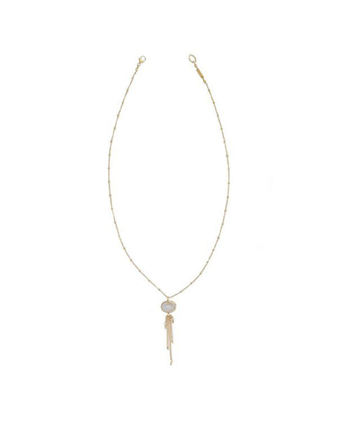 Chan Luu Rutilated quartz gold necklace