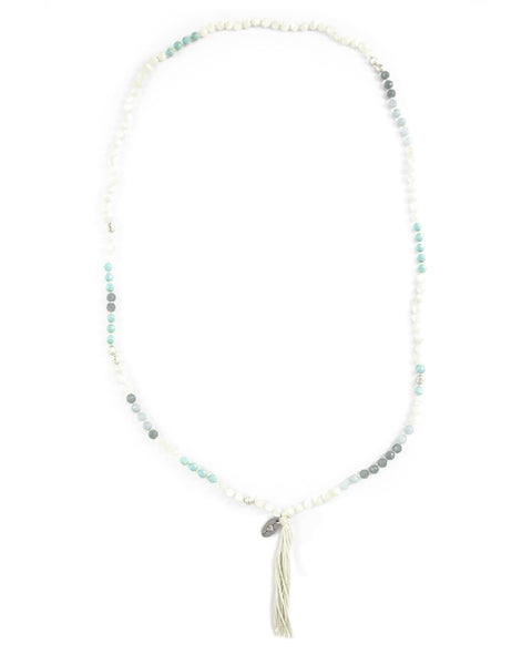 Chan Luu Turquoise Beaded Tassel Necklace