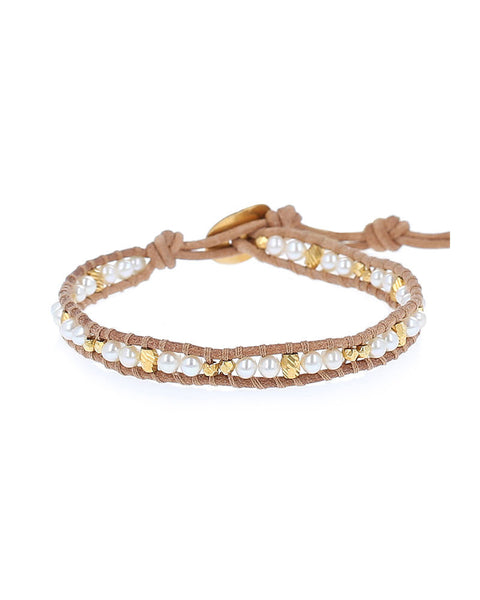 Chan Luu Single White Wrap Bracelet