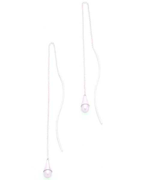 Chan Luu White Pearl Drop Earrings