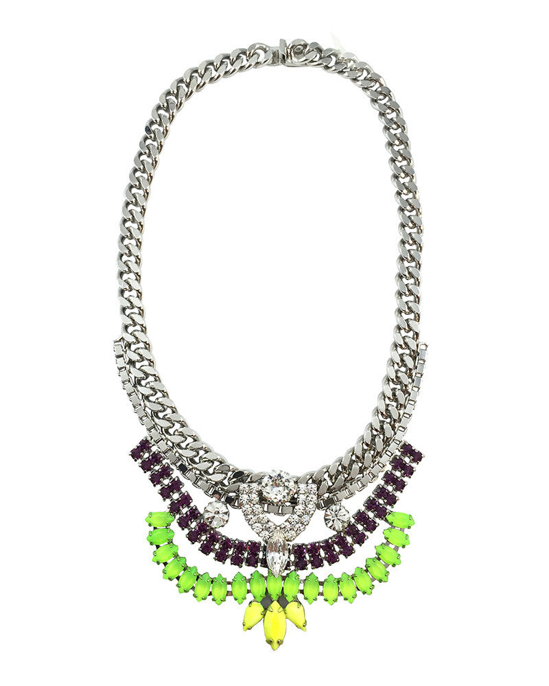 Courtney Lee Collection Melanie Neon Swarovski Necklace