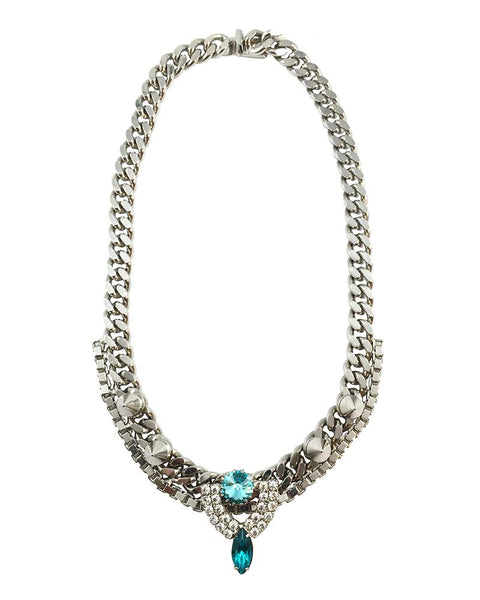 Courtney Lee Collection Chloe Rhodium Necklace