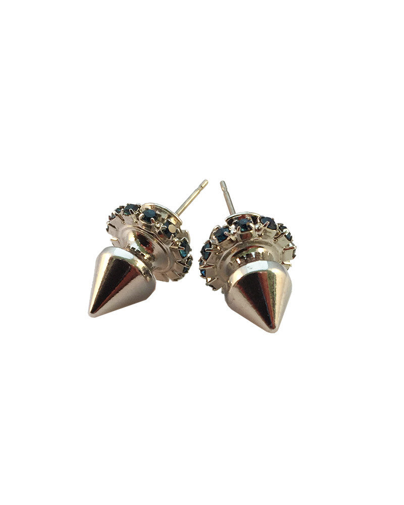 Courtney Lee Collection Earrings Silver Sapphire
