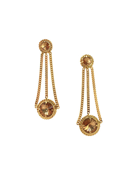 Courtney Lee Collection Gold Earrings