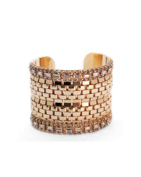 Thick Gold Cuff Courtney Lee Collection