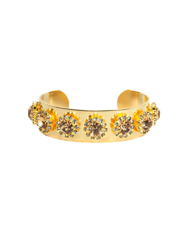 Courtney Lee Collection Mia Cuff Gold Swarovski