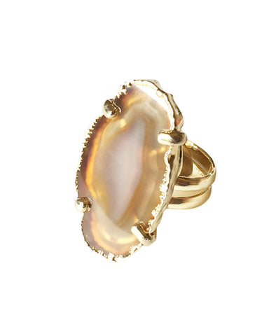 Crave Salt Agate Gold Ring