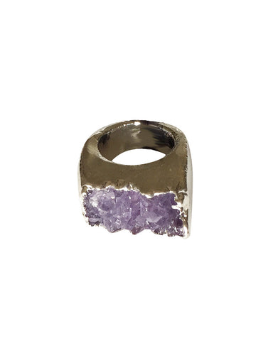 Crave Salt Amethyst Silver Ring