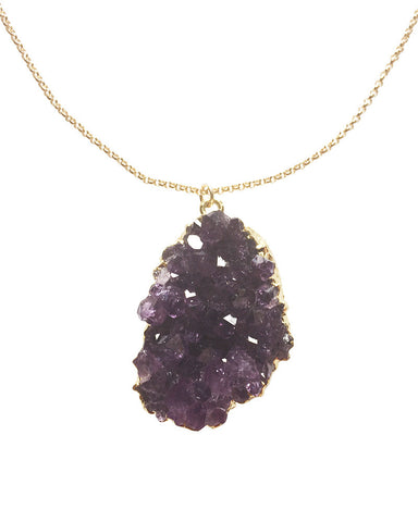 Crave Salt Small Amethyst Charm Necklace