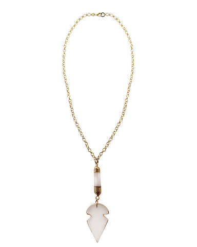 Crystal Arrowhead Necklace Jewels By Dunn
