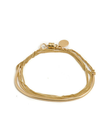 Dafne Arch Chain Wrap Bracelet 14Kt Gold-Filled