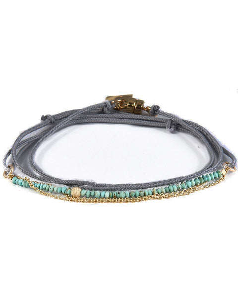 dafne dark grey blue beads