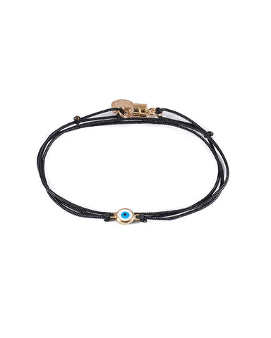 Dafne Lucky Eye Black Wrap Bracelet