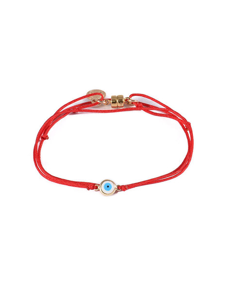 Dafne Lucky Eye Red Wrap Bracelet