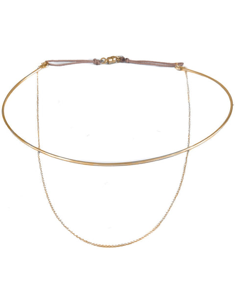 dafne chain choker necklace