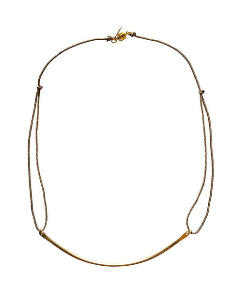 Dafne Gold Classic Barre Necklace