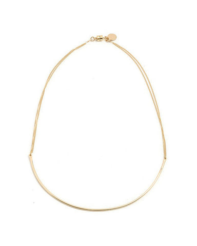 Dafne Classic Arch Gold Chain Necklace