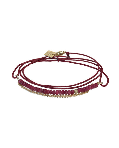 red ruby bracelet chain womens jewelry designer dafne pearl
