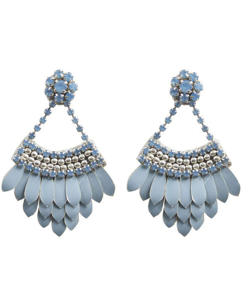 Tamsin blue elegant nice cute earrings for women by designer Deepa Gurnani