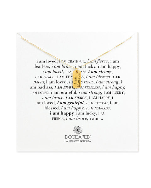 dogeared i am blessed necklace