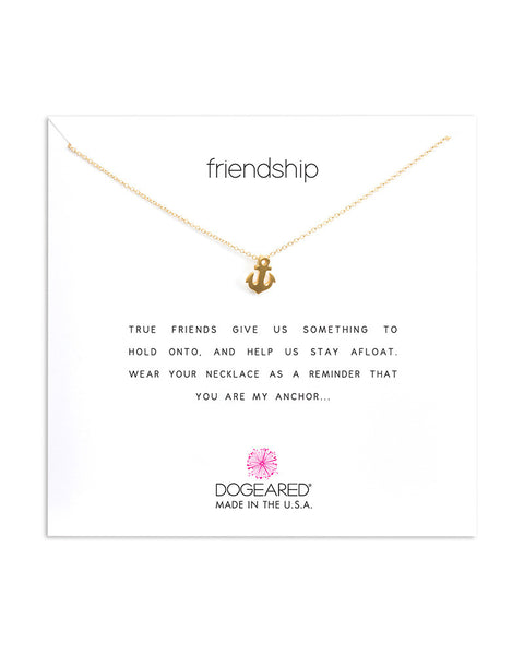dogeared gold friendship anchor necklace