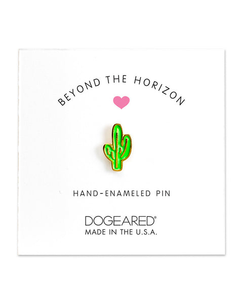 little cactus pin enamel dogeared