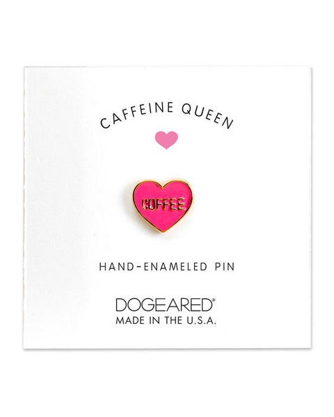 little pink heart coffee pin