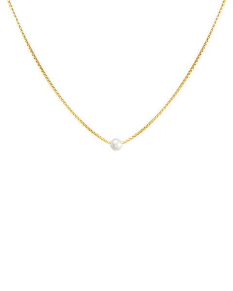 gold necklace with pearl dogeared