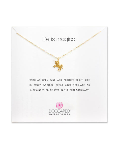 gold necklace unicorn pretty cute dogeared designer