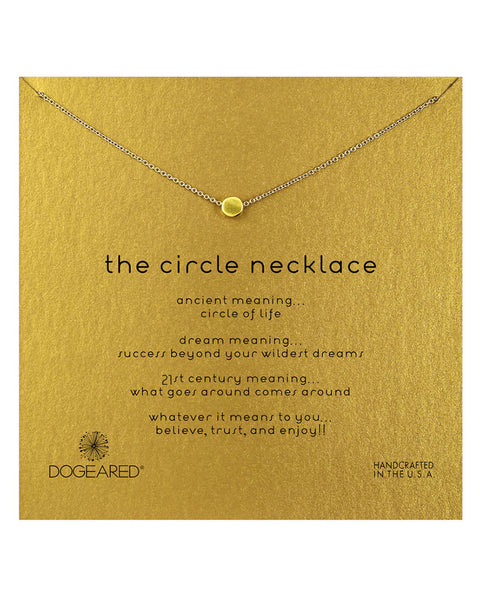 dogearred gold circle necklace