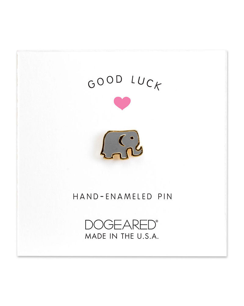 tiny enamel elephant pin