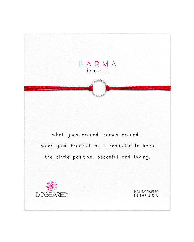 red karma bracelets dogeared with silver ring