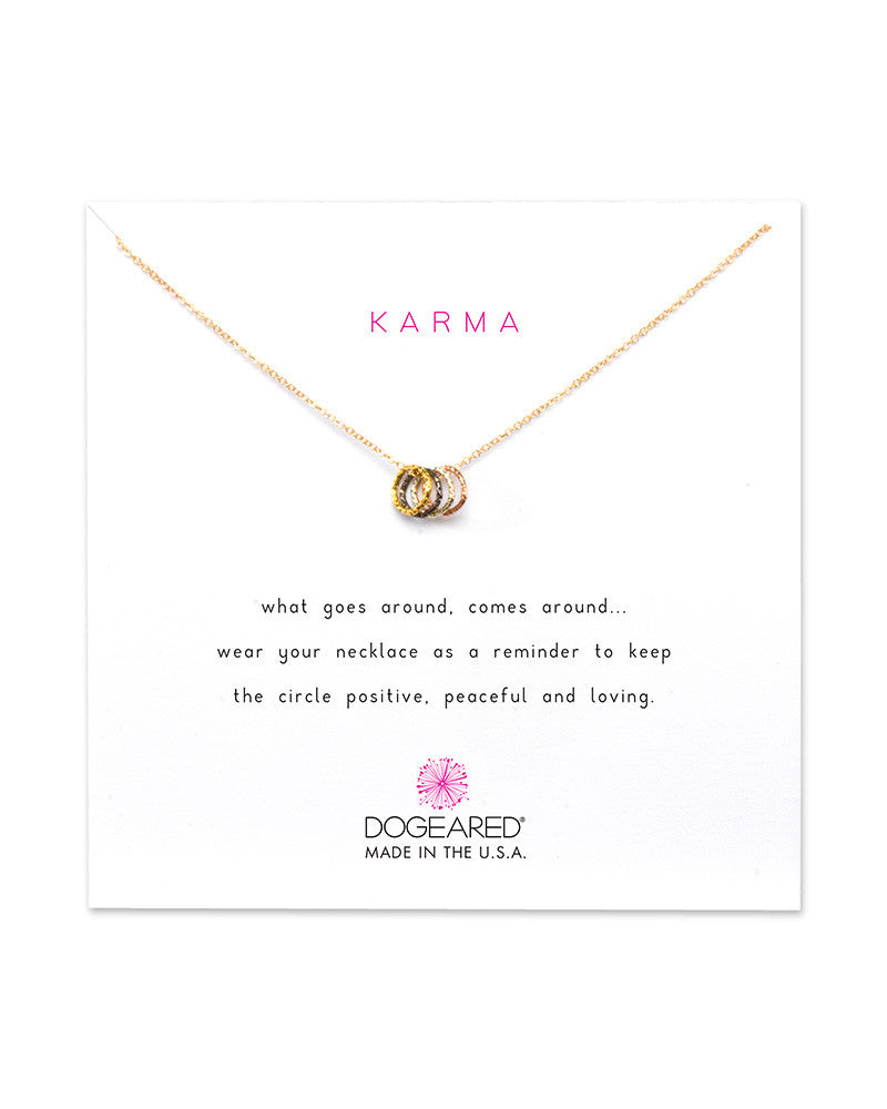 dogeared karma goes around comes around necklace