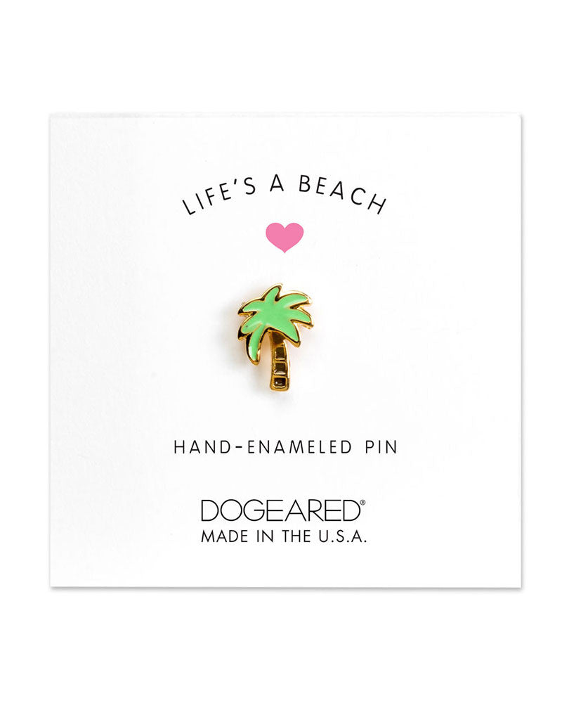 little palm enamel pin
